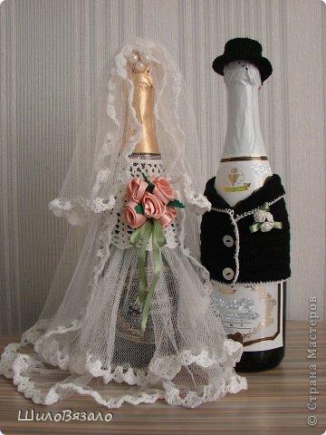 Вот такую парочку сделала в подарок подруге на 15летие свадьбы. Специально не смотрела никакие работы, никакие МК, чтоб наряды получились не похожие ни на какие другие! фото 1