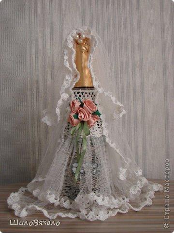 Вот такую парочку сделала в подарок подруге на 15летие свадьбы. Специально не смотрела никакие работы, никакие МК, чтоб наряды получились не похожие ни на какие другие! фото 4