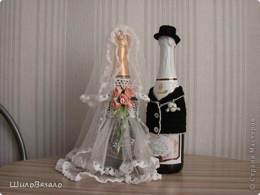 Вот такую парочку сделала в подарок подруге на 15летие свадьбы. Специально не смотрела никакие работы, никакие МК, чтоб наряды получились не похожие ни на какие другие! фото 7