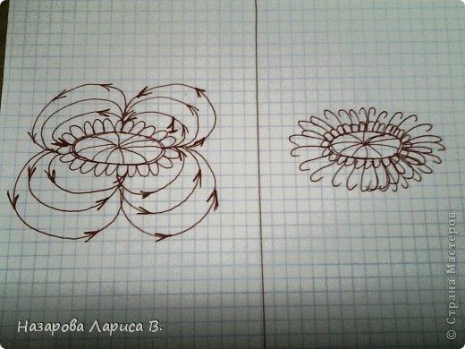 Картина панно рисунок Мастер-класс Вышивка Вышивка лентами Осенний этюд МК вышивка хризаннтемы Ленты Ткань фото 12