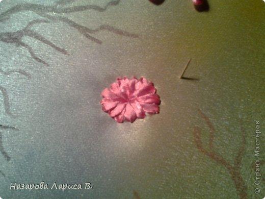 Картина панно рисунок Мастер-класс Вышивка Вышивка лентами Осенний этюд МК вышивка хризаннтемы Ленты Ткань фото 6