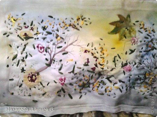 Картина панно рисунок Мастер-класс Вышивка Вышивка лентами Осенний этюд МК вышивка хризаннтемы Ленты Ткань фото 22