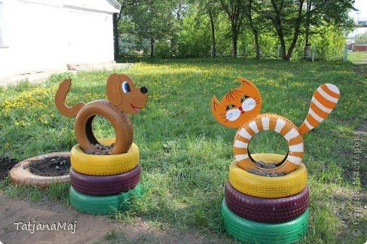 Поделки из бросового материала для детских площадок