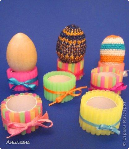 Подставка для яйца сделать своими руками
