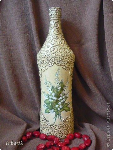 Декор предметов Декупаж Роспись Обещанный МК Бутылки стеклянные Краска Салфетки фото 1