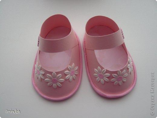 Спасибо мастерицам за схемы детских открыток, особенно понравилось делать туфельки и пинетки.... фото 2
