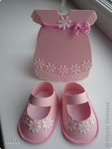 Спасибо мастерицам за схемы детских открыток, особенно понравилось делать туфельки и пинетки.... фото 1