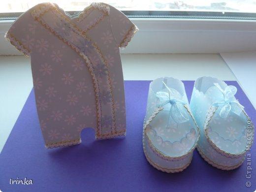 Спасибо мастерицам за схемы детских открыток, особенно понравилось делать туфельки и пинетки.... фото 4