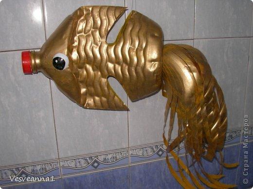 Мастер-класс Золотая рыбка из пластиковой бутылки Бутылки пластиковые фото 1.