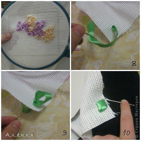Я первый раз вышивала лентами! посмотрите как и что из этого вышло :) фото 6