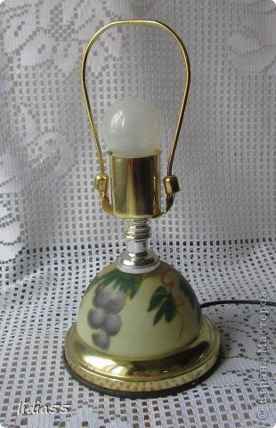 Декор предметов Роспись реставрация светильника фото 2