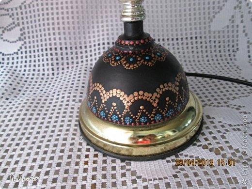 Декор предметов Роспись реставрация светильника фото 3
