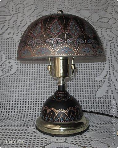 Декор предметов Роспись реставрация светильника фото 7