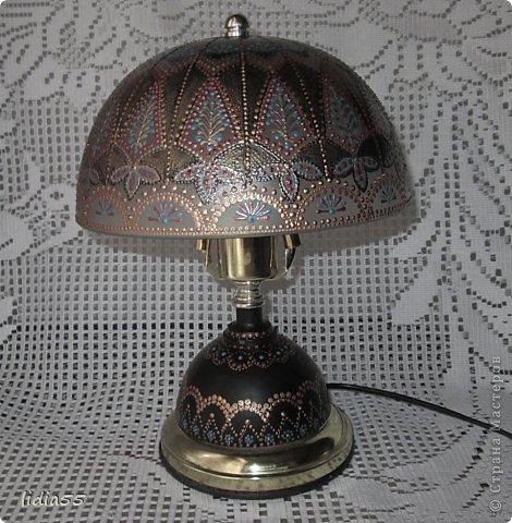 Декор предметов Роспись реставрация светильника фото 5