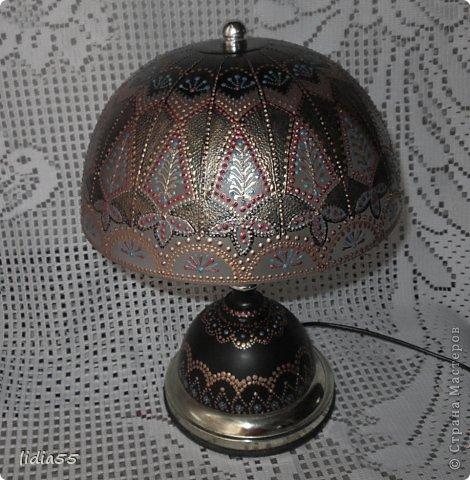 Декор предметов Роспись реставрация светильника фото 4