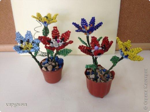 Цветы в горшочке из бисера своими руками видео - Хобби и увлечения