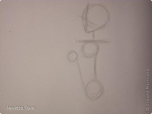 Здравствуйте этот мк посвящается тем у кого проблемы с рисованием людей. Этот способ подойдёт для девушек, которые не умеют рисовать. Этот мк является лёгкой версией для рисования людей. В данном мк не соблюдены пропорции. Способ подходит для схематичного отображения человека или простого баловства с листом бумаги и цветными карандашами) фото 6
