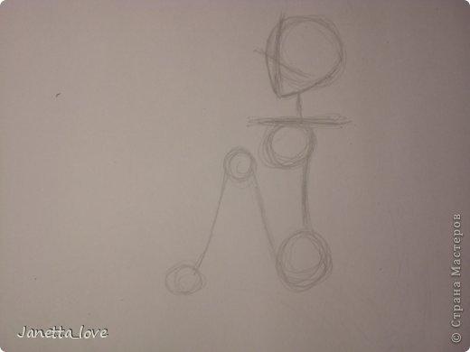 Здравствуйте этот мк посвящается тем у кого проблемы с рисованием людей. Этот способ подойдёт для девушек, которые не умеют рисовать. Этот мк является лёгкой версией для рисования людей. В данном мк не соблюдены пропорции. Способ подходит для схематичного отображения человека или простого баловства с листом бумаги и цветными карандашами) фото 7