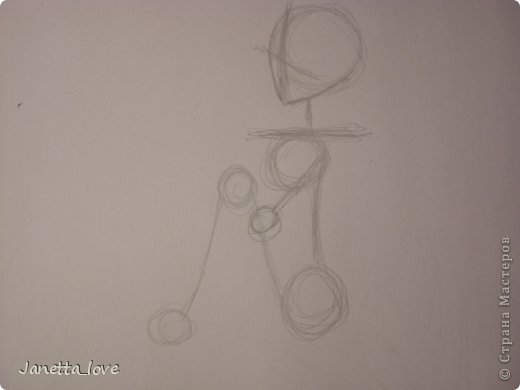 Здравствуйте этот мк посвящается тем у кого проблемы с рисованием людей. Этот способ подойдёт для девушек, которые не умеют рисовать. Этот мк является лёгкой версией для рисования людей. В данном мк не соблюдены пропорции. Способ подходит для схематичного отображения человека или простого баловства с листом бумаги и цветными карандашами) фото 8