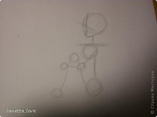 Здравствуйте этот мк посвящается тем у кого проблемы с рисованием людей. Этот способ подойдёт для девушек, которые не умеют рисовать. Этот мк является лёгкой версией для рисования людей. В данном мк не соблюдены пропорции. Способ подходит для схематичного отображения человека или простого баловства с листом бумаги и цветными карандашами) фото 9