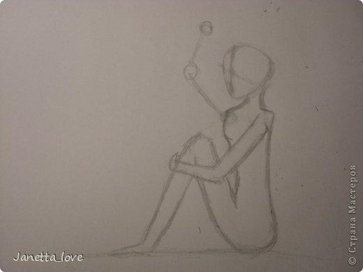 Здравствуйте этот мк посвящается тем у кого проблемы с рисованием людей. Этот способ подойдёт для девушек, которые не умеют рисовать. Этот мк является лёгкой версией для рисования людей. В данном мк не соблюдены пропорции. Способ подходит для схематичного отображения человека или простого баловства с листом бумаги и цветными карандашами) фото 12