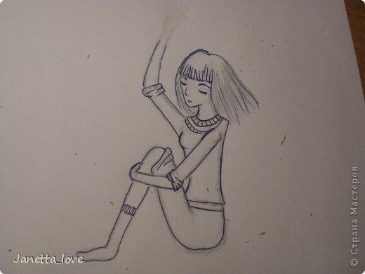 Здравствуйте этот мк посвящается тем у кого проблемы с рисованием людей. Этот способ подойдёт для девушек, которые не умеют рисовать. Этот мк является лёгкой версией для рисования людей. В данном мк не соблюдены пропорции. Способ подходит для схематичного отображения человека или простого баловства с листом бумаги и цветными карандашами) фото 15