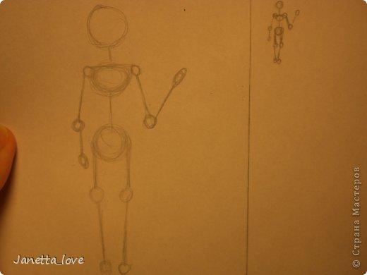 Здравствуйте этот мк посвящается тем у кого проблемы с рисованием людей. Этот способ подойдёт для девушек, которые не умеют рисовать. Этот мк является лёгкой версией для рисования людей. В данном мк не соблюдены пропорции. Способ подходит для схематичного отображения человека или простого баловства с листом бумаги и цветными карандашами) фото 18