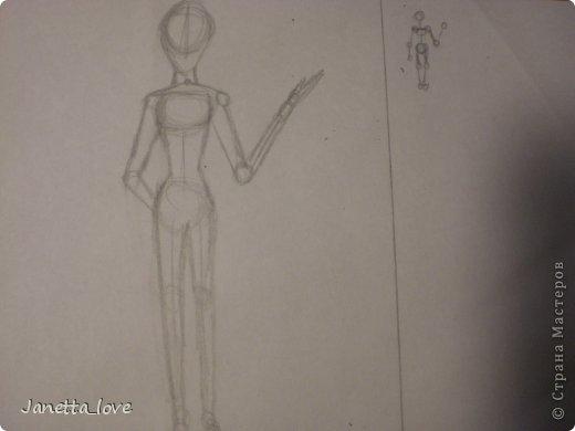 Здравствуйте этот мк посвящается тем у кого проблемы с рисованием людей. Этот способ подойдёт для девушек, которые не умеют рисовать. Этот мк является лёгкой версией для рисования людей. В данном мк не соблюдены пропорции. Способ подходит для схематичного отображения человека или простого баловства с листом бумаги и цветными карандашами) фото 19