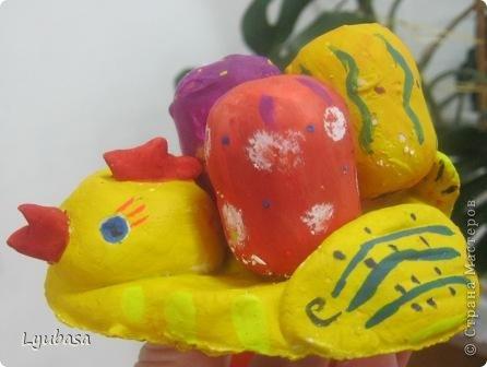 Пасхальные работы - курочки с яичками. фото 2