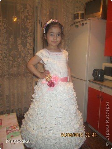 рукоделие вязаные платья для девочек на выпускной крючок