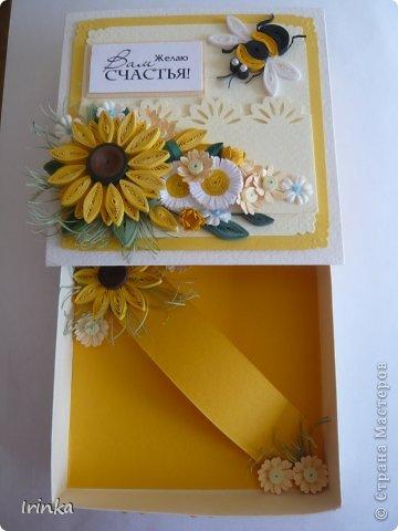 Коробочка, что-то меня на подсолнухи потянуло,  по-моему цветов многовато налепила......, а в целом коробочка понравилась.... фото 4