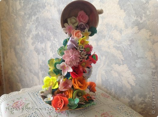Как сделать поделку кружка на весу с цветами - Техно ответ