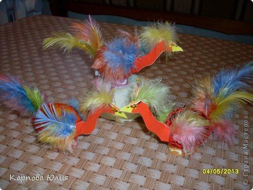 Поделки из перьев своими руками фото детям 75