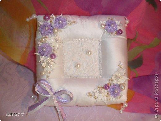 Мастер-класс Свадьба Шитьё Свадебная подушечка для колец Ткань фото 1