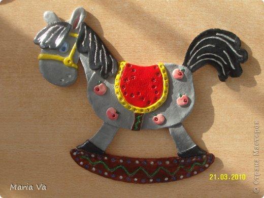 Лошадка из теста соленого