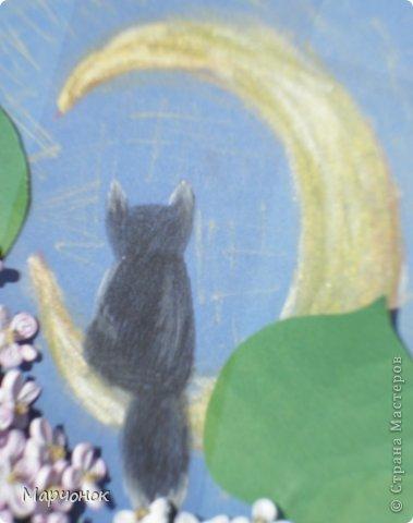 Вот я наконец решила попробывать сирень сделать по МК Saphir: http://stranamasterov.ru/node/369499. Цветы: офисная бумага, местами тонированная пастелью. Фон: рисунок цветные карандаши. фото 3