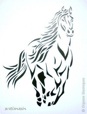 Картина панно рисунок Вырезание Навырезалось Лошади Бумага фото 3