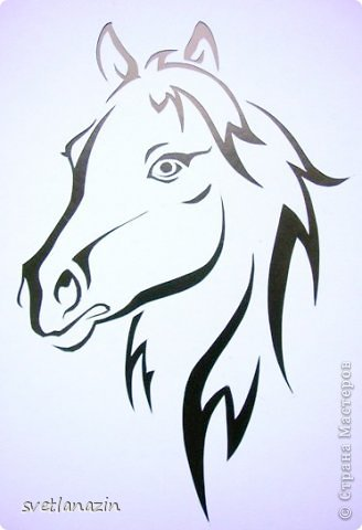 Картина панно рисунок Вырезание Навырезалось Лошади Бумага фото 4