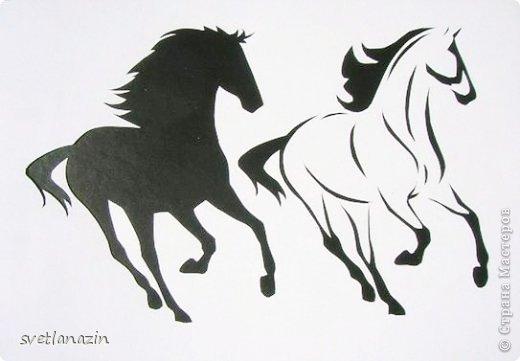 Картина панно рисунок Вырезание Навырезалось Лошади Бумага фото 5