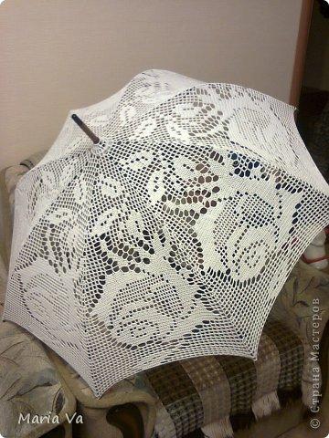 крючком Зонтики Нитки фото