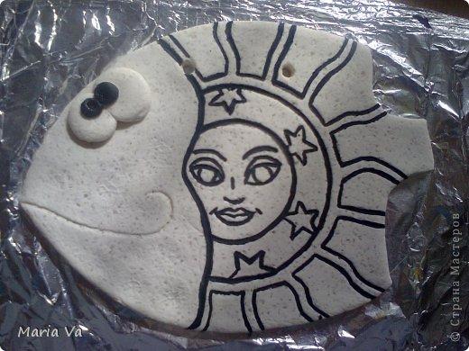 Поделка изделие Лепка Повторюшка рыбы Тесто соленое фото 4