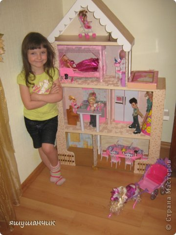 Домик для барби в подарок доченьке