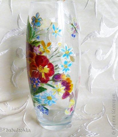 25июня2012года оять взялась за эту вазу  и внесла коррективы в цвет лепестков  и листьев. фото 4