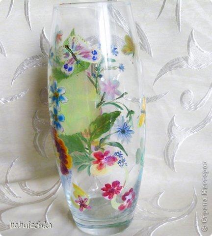 25июня2012года оять взялась за эту вазу  и внесла коррективы в цвет лепестков  и листьев. фото 10