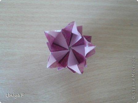 Кусудама Мастер-класс Оригами Khanuma Туториал  Бумага фото 23