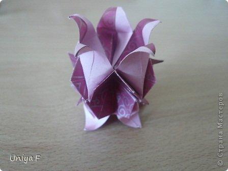 Кусудама Мастер-класс Оригами Khanuma Туториал  Бумага фото 22