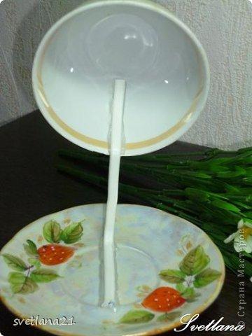 Processo de modelagem master-class de fazer uma xícara de flor Foto 5