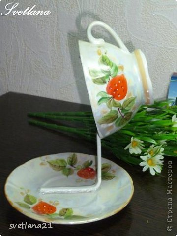 Processo de modelagem master-class de fazer uma xícara de flor foto 6