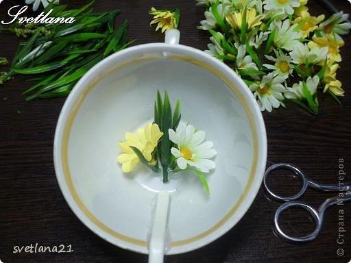Добрый день всем мастерицам  страны, хочу поделиться с вами процессом изготовления цветочной чашечки, на первенство не претендую, уже есть похожие МК по кофейным чашечкам, а я просто покажу вам как это делаю я.  Розочки уже пошли в дело и буду пробовать с ромашками. фото 8