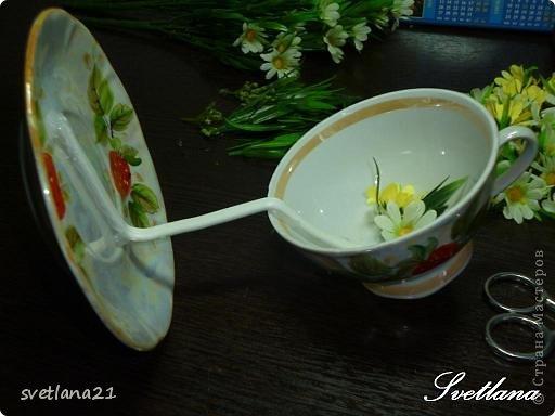 Processo de modelagem master-class de fazer uma xícara de flor foto 9